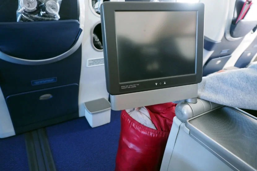 The IFE system was located under the armrest.