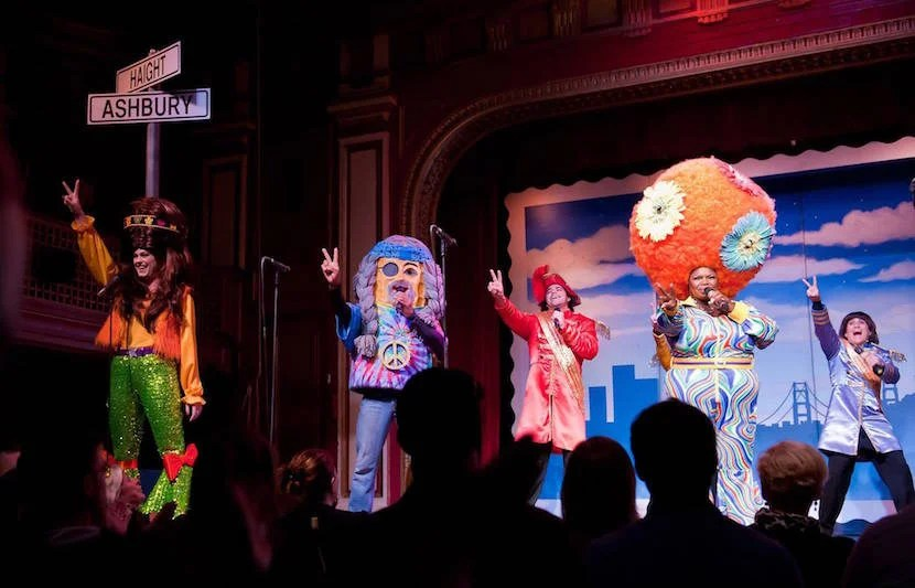 "Big hats and big laughs are in store for you at Beach Blanket Babylon. Image courtesy of the show's <a href=""https://www.facebook.com/BBBinSF/photos/a.148085017924.142305.142705627924/10155779375657925/?type=3&theater"">Facebook page</a>."