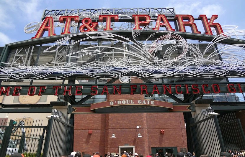 "Visit AT&T Park and eat healthy in its in-stadium gardens. Image courtesy of <a href=""http://www.shutterstock.com/pic-290367431/stock-photo-san-francisco-june-7-at-and-t-park-home-of-the-giants-neon-sign-during-day-as-people-enter-park-for-ballgame-june-7-2011-att-park-san-francisco-california.html?src=3xuHV9wURwDqYsMaTwyHiQ-1-12"">Shutterstock</a>."