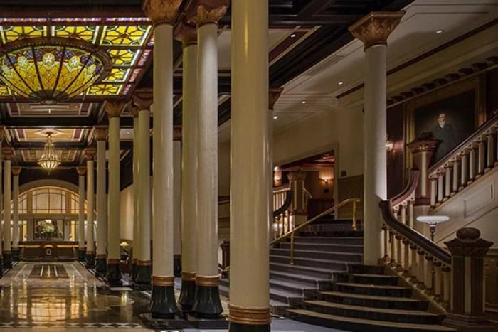The Driskill's impressive lobby.