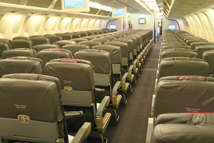 No in-flight entertainment or power are available.
