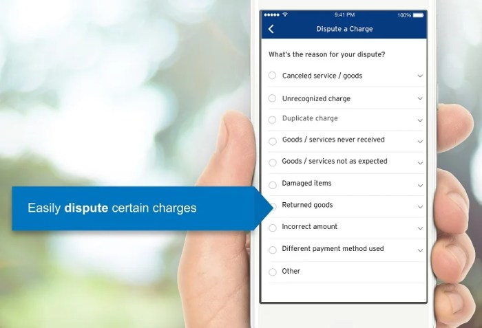 iPhone users can now file disputes in the new Citi app, but Android users are going to have to wait. Image courtesy of Citi.