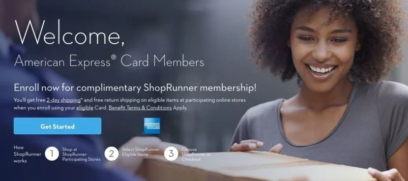 You can snag free two-day shipping with Amex and ShopRunner.