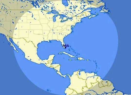 Miami to Caribbean