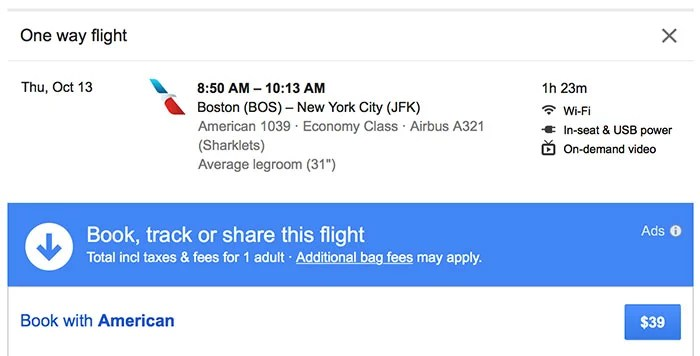 A $39 flight from Boston to New York City? Yes, please.