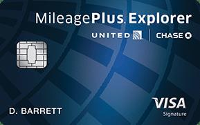 The United MileagePlus Explorer Card.