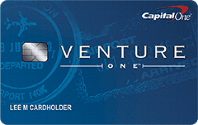 The Capital One VentureOne Rewards Credit Card.