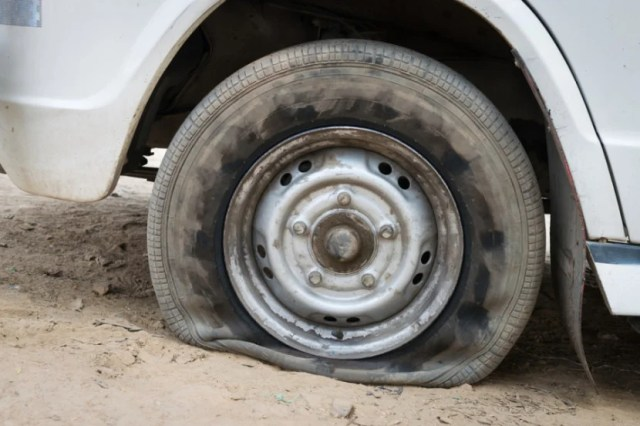 Most airlines offer a flat tire rule and let you rebook onto the next flight if you miss yours.