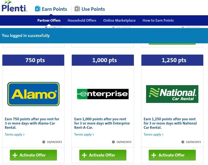 You can earn Plenti points from car rental, but you can't use them yet.