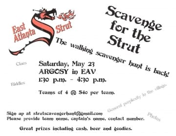 EAV Strut Scavenger Hunt Returns!