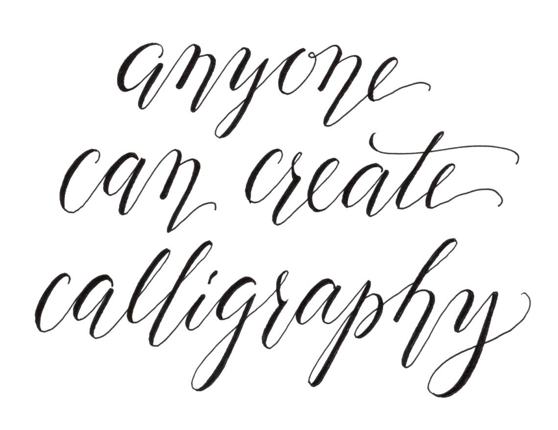 calligraphy writing tutorial