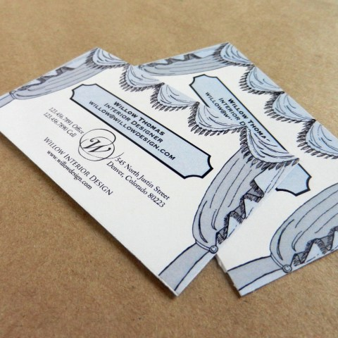 Interior Design Business Cards | The Postman's Knock