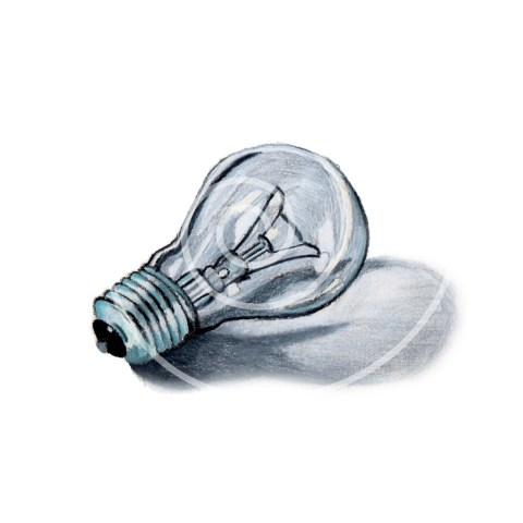 Hand-Drawn Lightbulb Clipart | The Postman's Knock