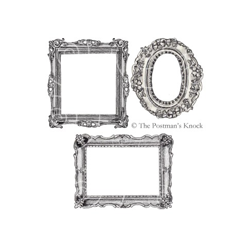 Illustrated Vintage Frames Clipart | The Postman's Knock
