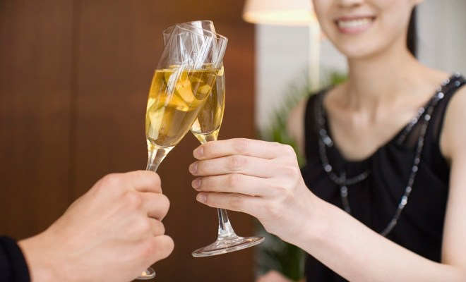 Cheers with Champagne Glasses - small