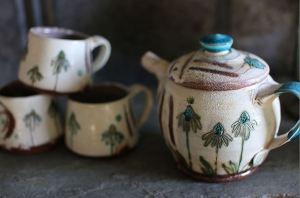 Maria Dondero Echinacea Tea Set