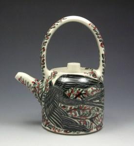 Sue Tirrell Black Bird Teapot