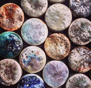 Guy Mitchell Crater Glazed Penny Rounds