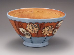 Amy Sanders blue small serving bowl