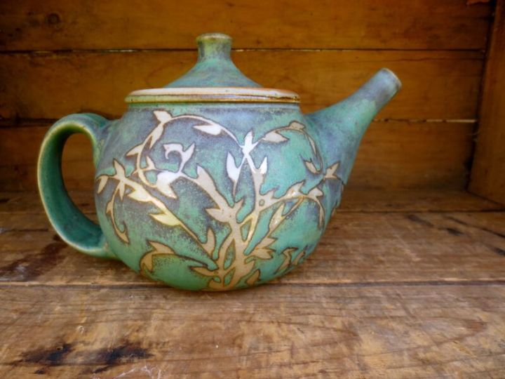 Julie Covington Teapot with Vines