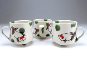 Yoko Sekino-Bove Goldfish Mugs