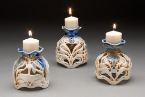 Lora Rust Candle Holder Group 2