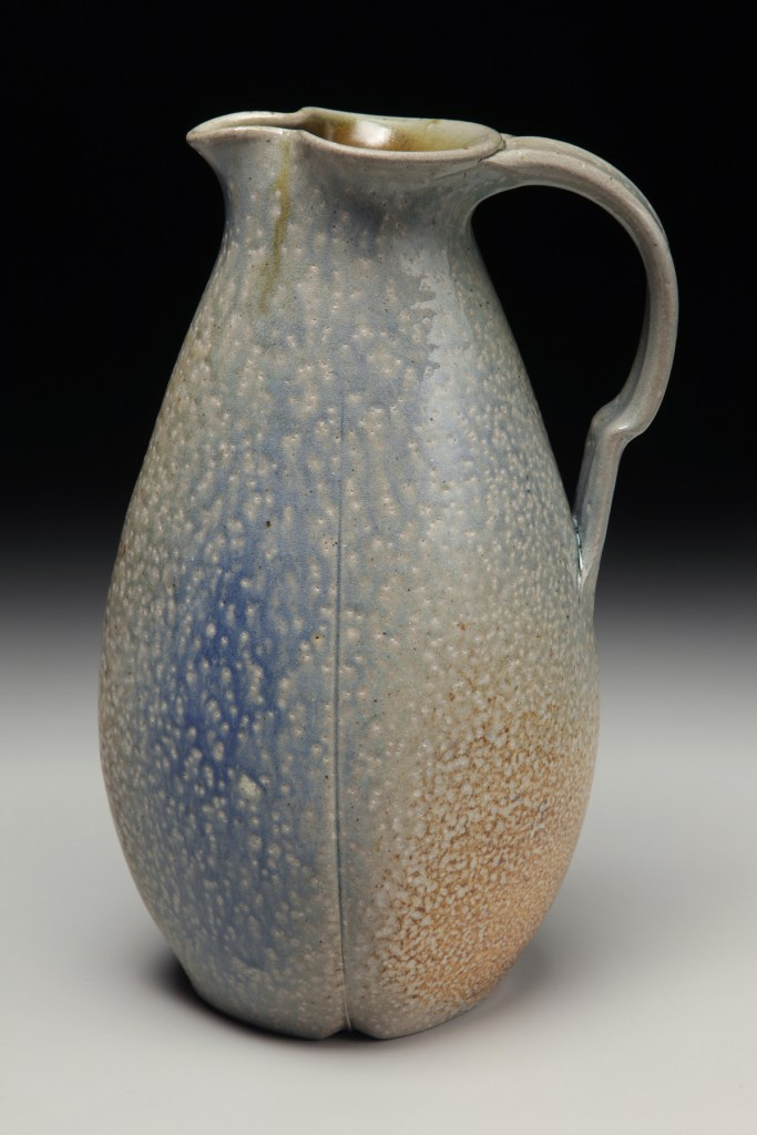 David Voorhees Stoneware Paddled Pitcher