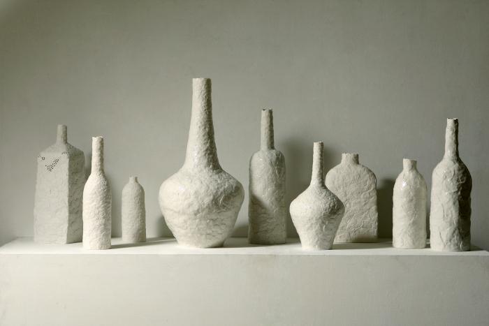 Minah Kim Vases on a Shelf
