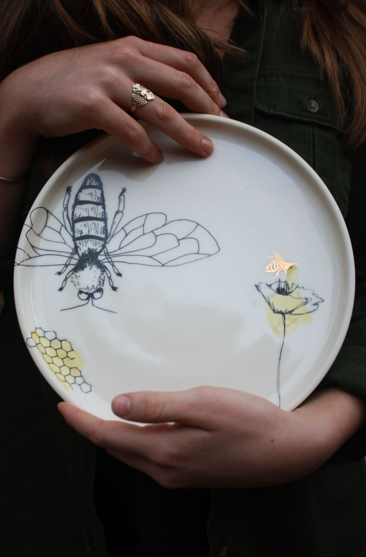 Melina LaVecchia Bee Plate