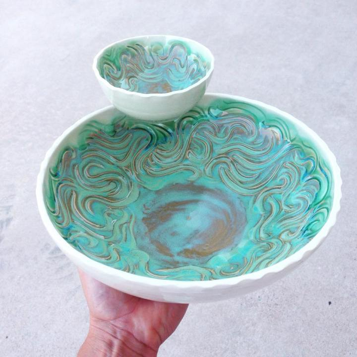 Kim Press Chip and Dip Bowl