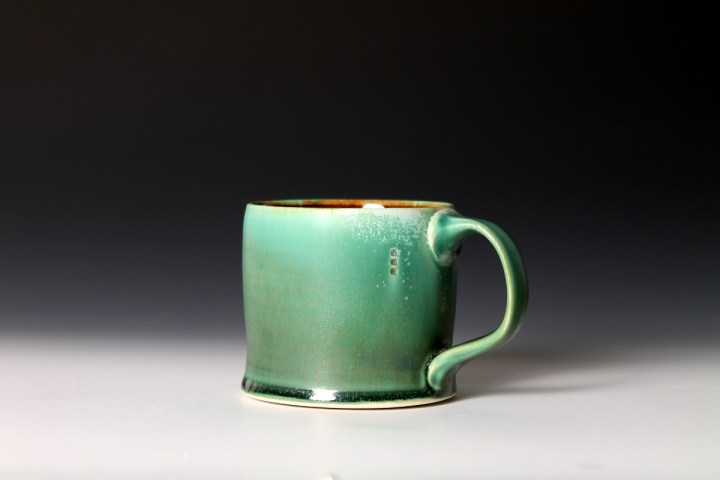 Nick DeVries dark green diner mug