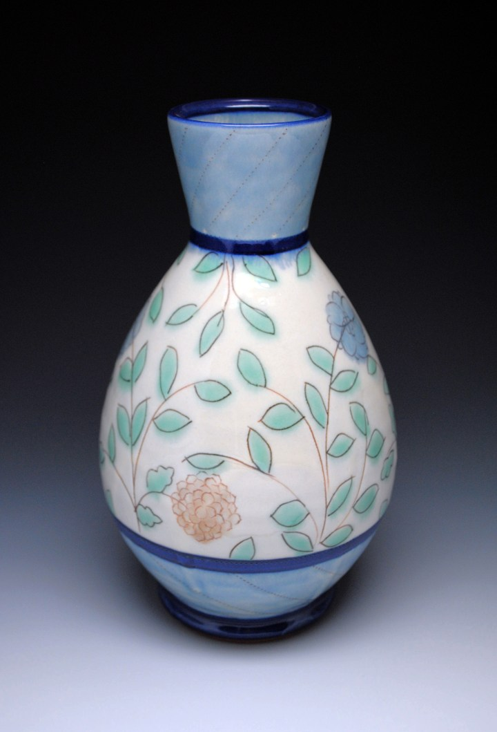 Ben Carter 3 Blue Bottom Vase