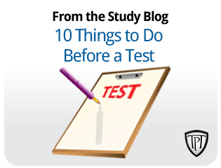 10 Things to do before a test
