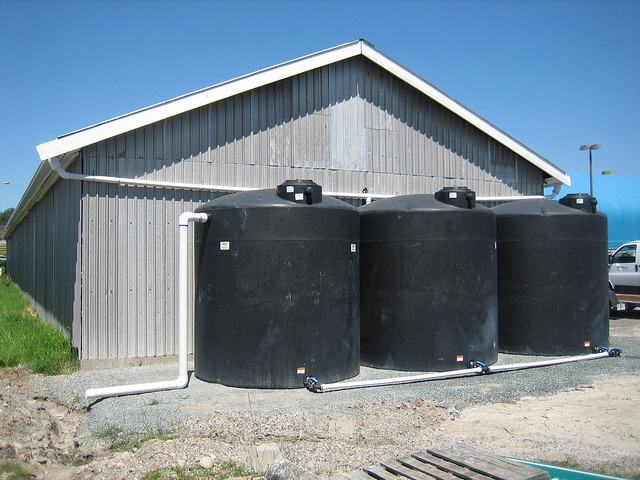 To go off the grid, it helps to have sufficient water collection capacity.