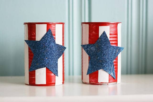 patriotic vase craft