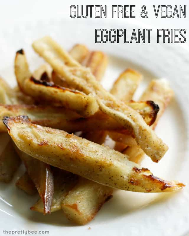 An addictive way to eat eggplant! Crispy, tasty eggplant fries made vegan and gluten free