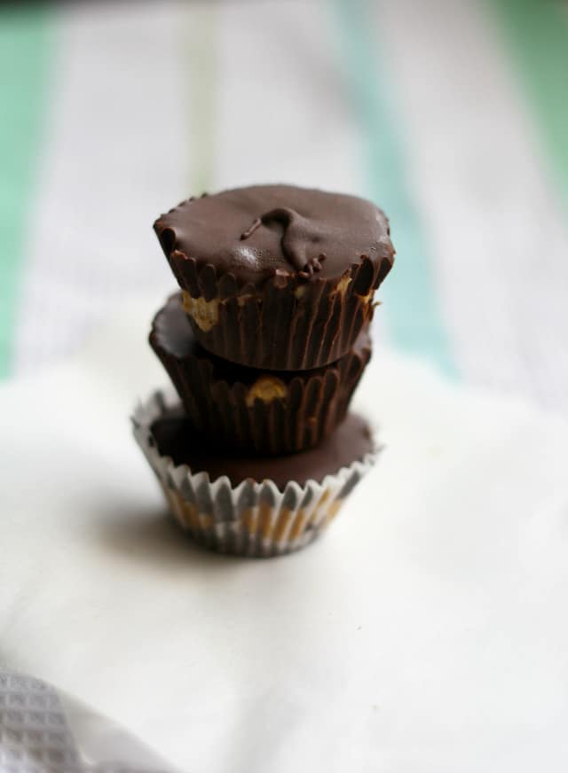 dark chocolate dairy free peanut butter cups