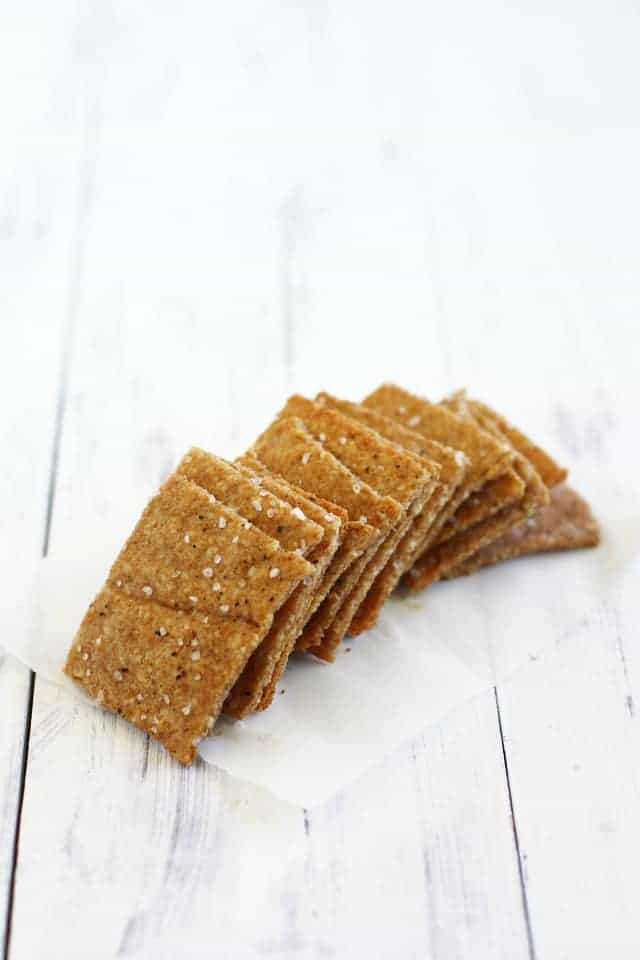 Peppered Cashew Flour Crackers