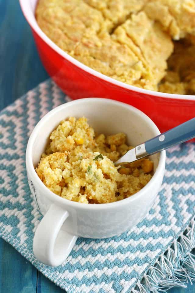 Delicious egg free cornbread casserole.
