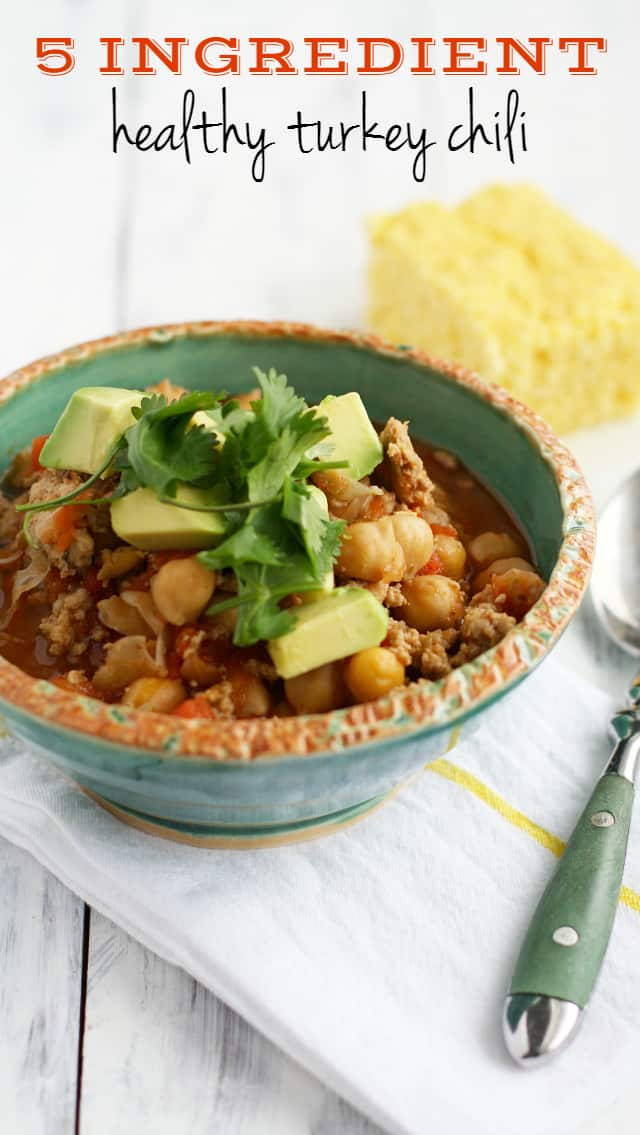 5 ingredient turkey chili the pretty bee for Cuisine 5 ingredients
