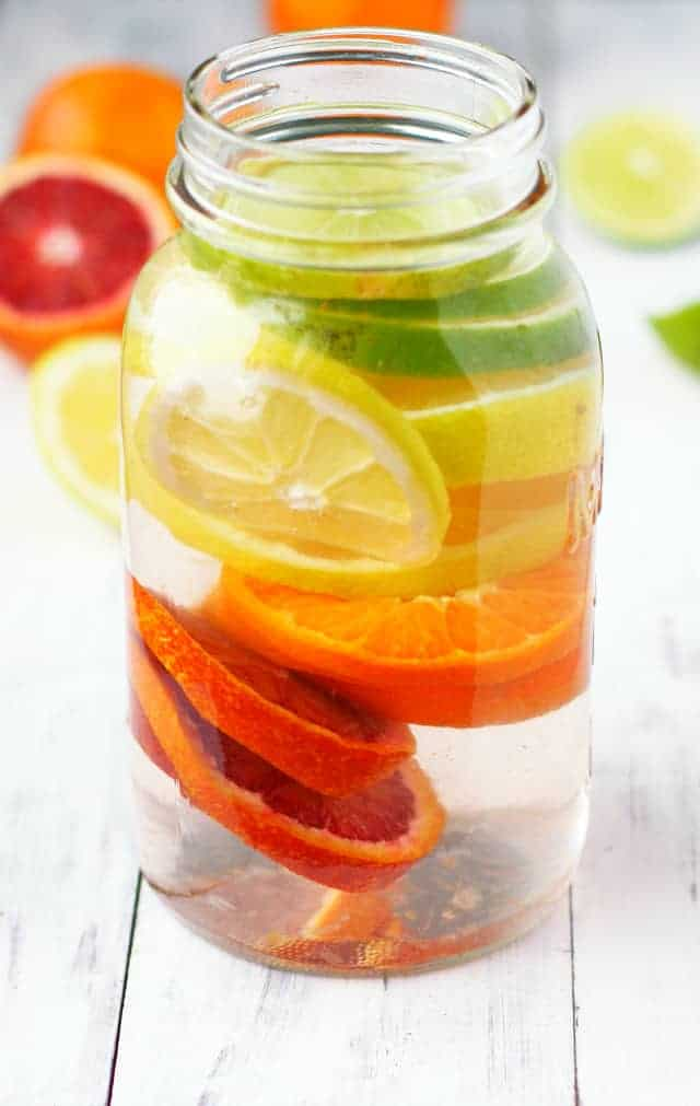 Rainbow Citrus Infused Water.