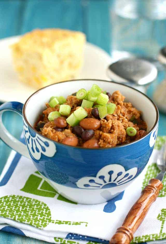 sweet and tangy recipe for baked bean turkey chili. A great meal for ...