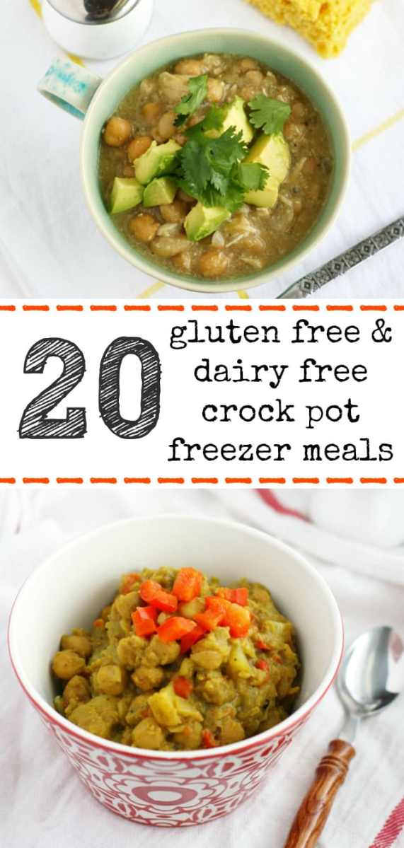 20 Gluten Free and Dairy Free Crock Pot Freezer Meals.