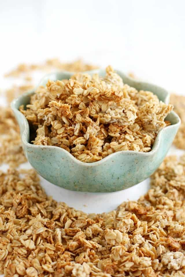 The BEST allergy free granola recipe! #nutfree #wheatfree