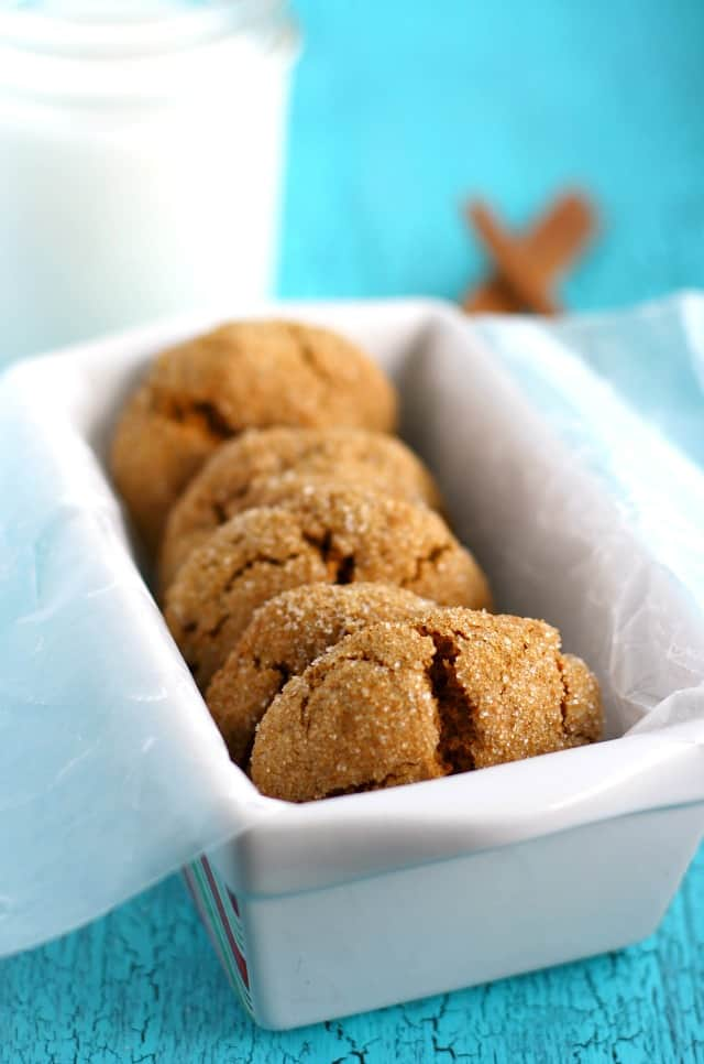 Pumpkin Spice Molasses Cookies.