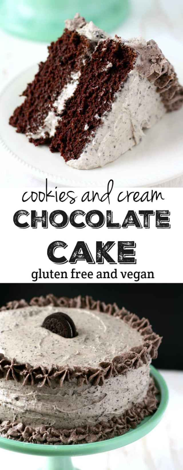 What's more fun than chocolate cake? Chocolate cookies and cream cake, of course!