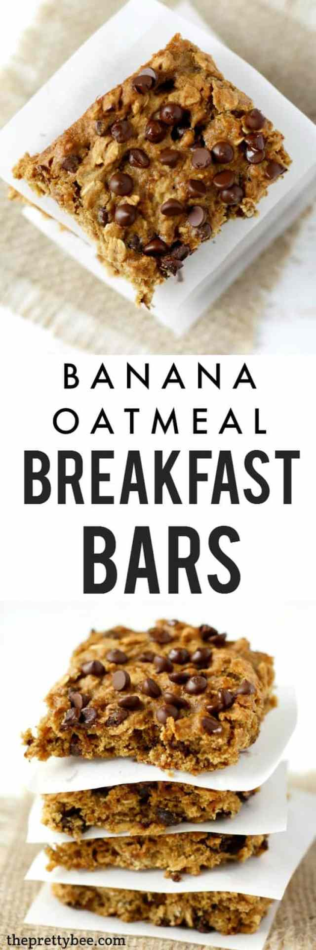 Soft and chewy chocolate oatmeal breakfast bars are a great way to ...