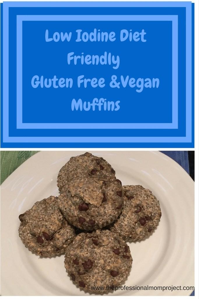 Low Iodine Diet Friendly gluten free and vegan muffins