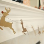 DIY Santa & Reindeer Garland