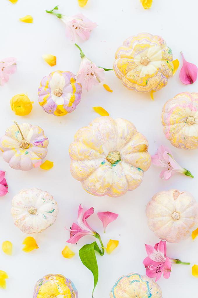 Pastel Marble Pumpkin